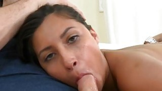 Horny babe rides on dudes penis for his cumshot Preview Image