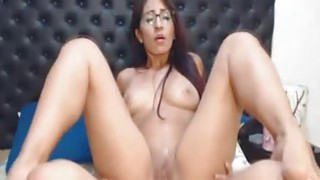Hot Nerdy Babe Rides Her Horny Boyfriend Cock Preview Image
