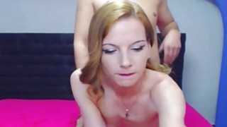 Sexy Blonde Teen Strips and Got Banged Behind Preview Image