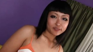 Sweet Asian gets fucked in stockings by BBC Preview Image