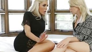 Stunning Blonde Pornstars Having Fun With Dildo Preview Image
