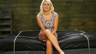 Blonde teen Layla Price enjoys getting her holes toyed in bondage action Preview Image