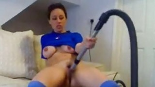 Amateur girlfriend toying with a vacuum cleaner Preview Image