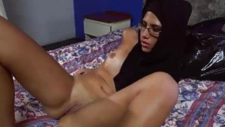 Arab girl in hijab sucks two big fat cocks Preview Image