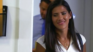 Latina teen Victoria Valencia fucked in the office Preview Image