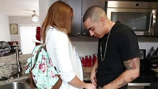Bruno feeds Kristen Lee his big cock to relieve her stress Preview Image