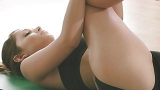 Sexy babes and trainer hot yoga session while theyre nude Preview Image