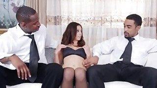 Brunette MILF Eva Long Gets Fucked In Threesome With Black Studs Preview Image