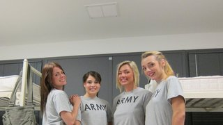 Horny army girls devouring each other Preview Image