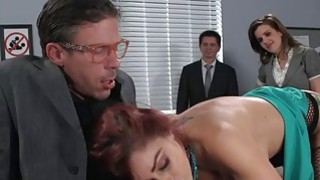 Busty office babe screwed in her anal by her coworker Preview Image