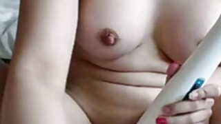 Real Amateur Teen Hitachi Insertion Masturbation Orgasm On Webcam Preview Image