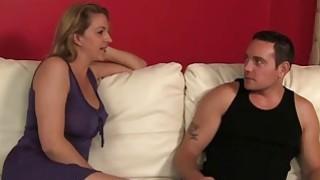 Blonde MILF Roxanne Hall Helps Young Slut Brooklyn JoLeigh Cum During Hard Three Way Sex Preview Image