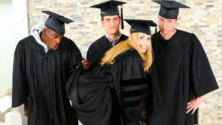 Celebrating graduation with a gang bang Preview Image