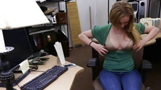 Pretty amateur blond babe gets fucked by pawn keeper Preview Image