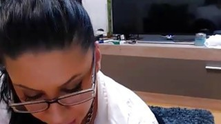 Lovely brunette MILF sucked and gets fucked on_webcam Preview Image