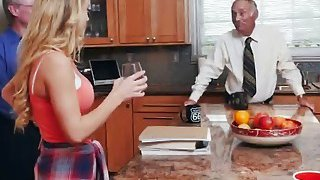 Hot teen Molly gets seduced by old guy who easily locates her g spot Preview Image