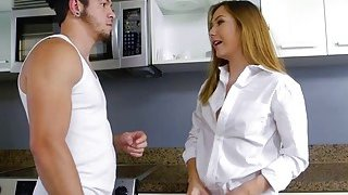 Teen babe Aria gets fucked by her house_mate_in the kitchen Preview Image