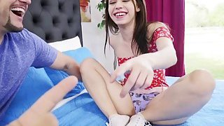Huge cock drilling Lucie Clines pussy on top Preview Image