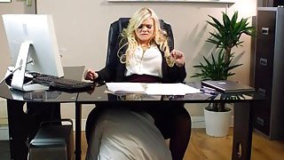 Luscious office babe Katy Jayne tit fuck and banged hard Preview Image