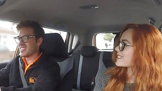 Threesome_ffm_fuck_in_fake_driving_school_car Preview Image