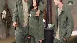 Sexy Army MILF Getting Attention Preview Image