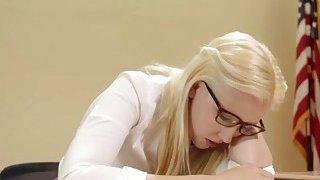 Blonde Schoolgirl Samantha Rone Tries Anal With Lesbian Teacher Dana Vespoli Preview Image