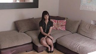 Ebony cutie fucks fake agents cock pov Preview Image