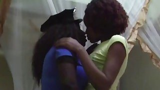 A very hot ebony police woman gets her sweet pussy licked by her lesbian_partner Preview Image