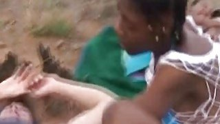 African real couple in scandalous Safari foursome_cock_swapping Preview Image