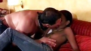Petite African getting pounded hard by a big white cock Preview Image