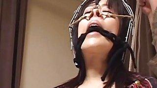 Subtitles bizarre Japanese nose hook BDSM spanking Preview Image