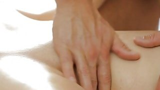 Big boobs babe screwed by her masseur on massage table Preview Image