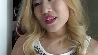 A horny dude fucks his hot blonde Asian girlfriend's pussy and gets awesome blowjob Preview Image