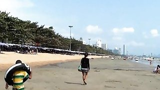 Sexy Thai babe picked up on the beach and fucked POV Preview Image