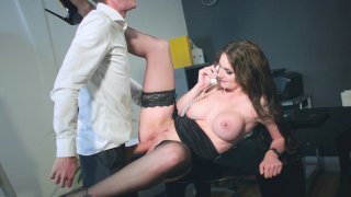 Marie Clarence in stockings and high heels is fucked on the desk Preview Image