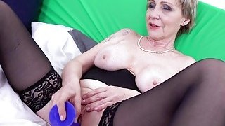 OldNannY Lusty Grandma Milena Solo_Toying Showoff Preview Image