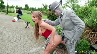 Hot babe Alessandra erects the huge_penis of a living statue Preview Image