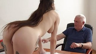 Young Girl Fucked by Old Man Office Deepthroat Preview Image