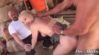 Husband watches blonde wife Liz Black get fucked by big dick before facial Preview Image