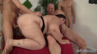 Insatiable BBW_Becki Butterfly Is Gangbanged by Five Horny Bastards Preview Image