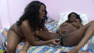 Two_pregnant_ebony_sluts_cum_all_over_big_black_dildos Preview Image
