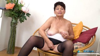 EuropeMaturE Hot Lady Solo Striptease and Stroking Preview Image