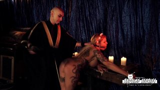 Busty tattooed chick wants a maledom BDSM session with deviant Preview Image