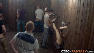 Huge Tits for Amateurs in Glory Hole Room Preview Image