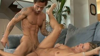 Athletic dude thrusts ugly aunty Becca Blossoms Preview Image