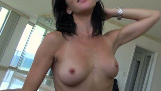 Skinny_small_jugs_brunette_bitch_Molly_Madison_gives_blowjob_and_rides_on_top. Preview Image