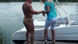 Busty tanned bbw blonde whore Sunny Diamond_gets her pussy eaten on the_boat. Preview Image