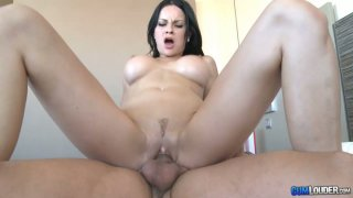 Abbie Cat busty brunette girl takes it up her tiny dirty asshole. Preview Image