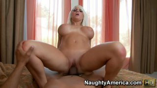Big tittie Jacky Joy does everything by herself while he makes sex video Preview Image