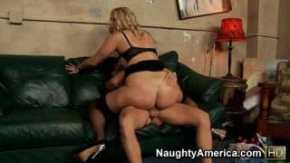 Nasty blonde Jordan Kingsley getting her pussy eaten and giving a hot blowjob before jumping on a cock as crazy Preview Image